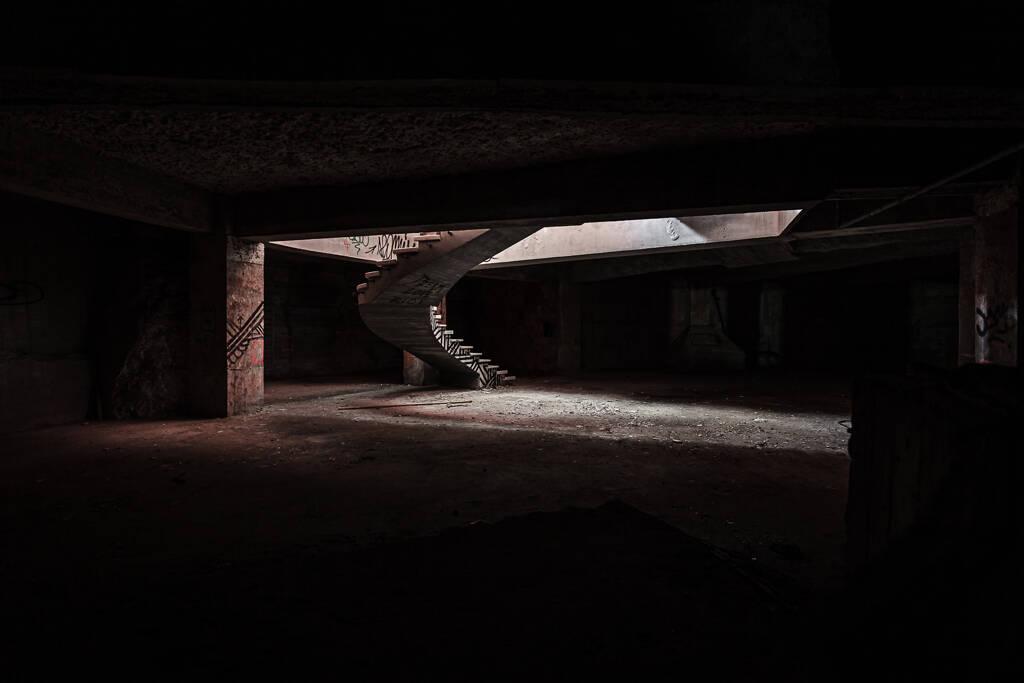 Sous sol du Mirador panoramique de Monsanto à Lisbonne...
