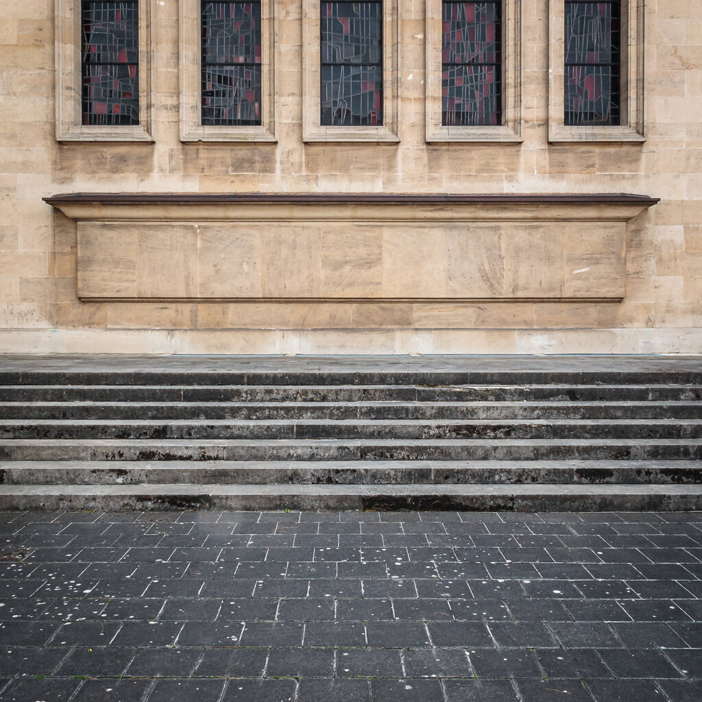 Façade de la synagogue de Luxembourg-Ville...